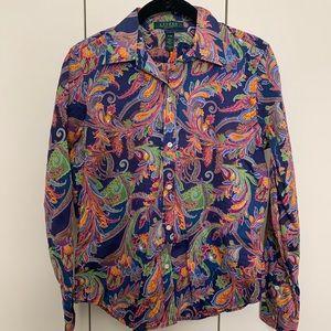 Ralph Lauren Like New (quality) Paisley Blouse